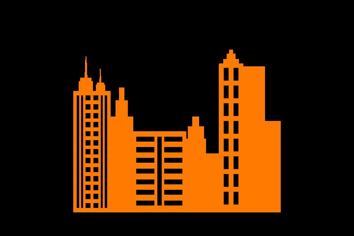 Skyline von einer Stadt • Neuen Job suchen